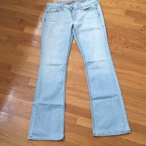 7 for all Mankind light wash flare jeans